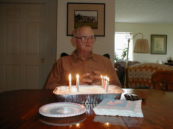 In A Bizarre Move Intended To Maximize Candle Blowing Photo Opportunities Grandpas 84 Candles Were Actually Dispersed Evenly Among Six Cakes Each Cake